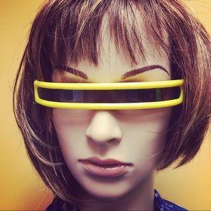 Vintage 80's Plastic Visor Slim Sunglasses